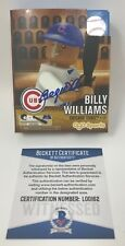 BILLY WILLIAMS Signed Chicago CUBS OYO MLB Baseball FIGURE HOF Beckett COA