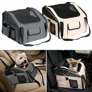 New Luxury Car Seat & Carrier Cat Small Dog Pet Puppy Travel Cage Booster