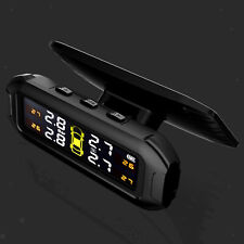 Wireless Tpms Solar Power Lcd Tire Pressure Monitoring System W External