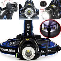 Super Bright 90000LM T6 LED Headlamp Headlight Flashlight Head Torch 18650 Camp