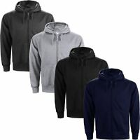 HOODED SWEATSHIRT HOODY HOODIE FLEECE Full Zip Jog suit Top JACKET S-5XL