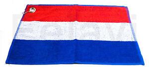 Golftuch Golfhandtuch 30x52 cm Gästetuch - Handtuch Flagge Niederlande (F51)