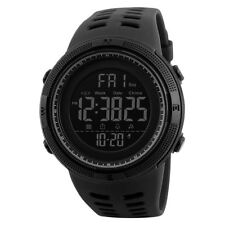 SKMEI Mens Large Display Digital Watch Resin Strap Stopwatch Alarm DG1251