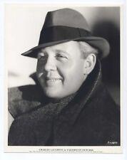 Vintage 1934 PARAMOUNT Portrait 7.75x9.75 CHARLES LAUGHTON Closeup DBW!