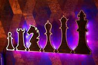 Chess Set Wall Decoration Lamp - Night Lamp/Light - Interior Decoration