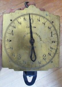 ANTIQUE JOHN CHATILLON'S AND SONS BRASS SCALE