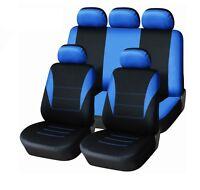 Audi A3 A4 A6 A7 TT Full Seat Covers Set Light Protectors Blue-Black
