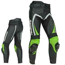 Pantaloni da moto da uomo KAWASAKI per uomo Pantaloni in pelle EU48-60