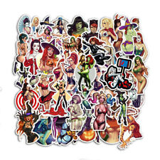 50pcs Skateboard Sticker Sexy Evil Anime Girl Women Bicycle Laptop Luggage Decal