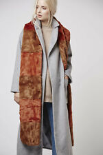 BNWT TOPSHOP RUST SUPERSOFT LONG FAUX FUR SCARF