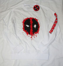 d7d7cf35a01 Marvel x Brands In Deadpool White Sweatshirt Mens size Large