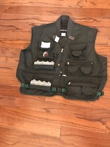 RARE NWT ULTIMATE Angler Mens Large Fly Fishing Vest Multi Pocket BOXES  Green
