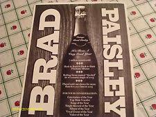 Brad Paisley 2005 CMA Voter Request Card