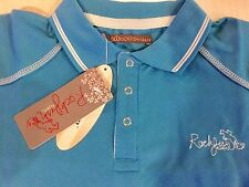 Rockfish Riders Polo Shirt With Coolskyn Short Sleeve Blue Match Lemieux Teal💙