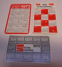 LOT OF 10 COCA~COLA  1988 POCKET CALENDARS ON GLOSS PAPER with DATES AND NOTES