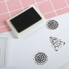 Black Ink Pad Inkpad Rubber Stamp Finger Print Craft Non-Toxic Safe Ea Baby O1W9