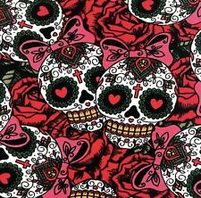 Buttery Soft Sugar Skulls & Bows Dia de Muertos Leggings One Size Skeleton OS