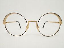 Vintage Byblos 505 46□20 Rundbrille gold Panto occhiali eyewear Lunettes NOS
