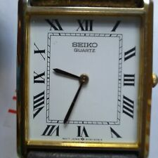Vintage Seiko Tank 5Y30-5060 Gold Plated Dress Watch