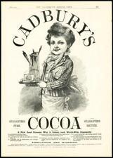1887 Antique Print - ADVERTISEMENT CADBURYS COCOA LITTLE BOY CARRYING TRAY (002)