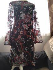Marks & Spencer Black Chiffon Dress New Size 16