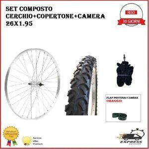 """Ruota Cerchio Posteriore Bici Mtb 26x1.95 Copertone Camera Bicicletta 26"""""""