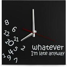 Decodyne Whatever I'm Late Wall Clock