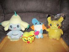 Pokemon plush toys, Pikachu,Jirachi,mudkip & Combee bulk lot