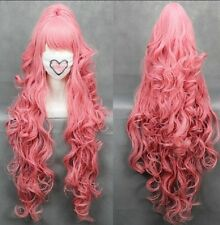 100cmVOCALOI D-Megurine Luka PINK Anime Cosplay wig+1Clip On Ponytail COS-H6
