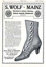 Wolf Schuhe Mainz XL Reklame 1912 Älteste Schuhfabrik Deutschlands Stiefel +