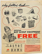 1959 magazine ad for Boy Scout Equipment free with Heinz & Post labels-photo ad