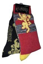 2 Pair Game of Thrones Men's Novelty Crew Socks