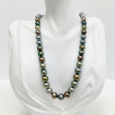 """Tahitian Pearls Necklace Loose Strand Round 8mm-10mm Multicolored 16-18"""""""