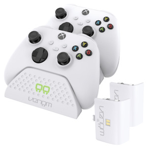 Xbox Series X / S Twin Charging Dock with Rechargeable Battery Packs - White