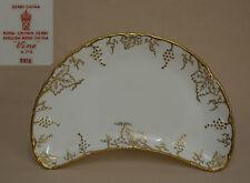 "Royal Crown Derby ""Vine"" (White) XXIX (1966) Crescent SALAD PLATE"