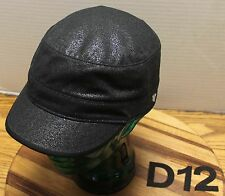 WOMENS UNIVERSITY OF MONTANA GRIZZLIES BLACK/GLITTER CADET/MILITARY HAT EUC D12