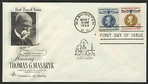 #1147 & 1148 T.G. Masaryk, Art Craft [4] Addressed FDC ANY 4=
