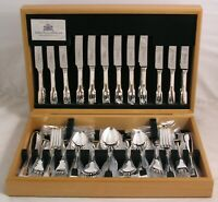 OLD ENGLISH FIDDLE By ARTHUR PRICE Silver Service 84 Piece Canteen of Cutlery