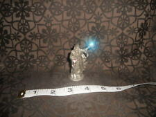"1988 Wizard W/ 2 Crystal's Staff & Medieval Fantasy Pewter Vintage by "" K.Dopita"