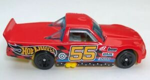 Hot Wheels Red Circle Trucker 2010 #55 Diecast Toy Car 1:64 Race Vehicle Truck