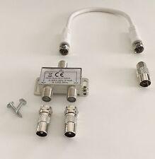 2-fach TV&Radio Verteiler Weiche Zweifachverteiler,inkl.20cm kabel, Briefsendung
