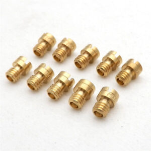 10X 4mm Carb Main Jets Round Head for GY6 50cc 139QMB Scooter Carb Universal