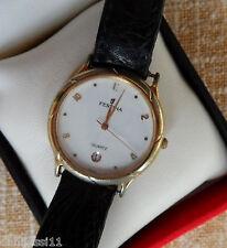 Reloj para mujer marca Festina Quartz, correa de piel color negro