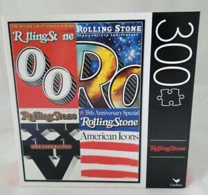"NEW Cardinal Rolling Stone Magazine Covers 300 Piece Jigsaw Puzzle 18"" x 24"""
