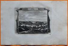 VAN DER AA Gravure originale c1725 VUE DE BREST Bretagne Finistère Léon