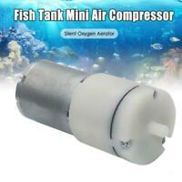 DC 12V Small Mini 370 Motor Micro Air Pump Oxygen Pump Tank Fish Aquarium Y2M7