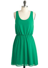 Coco Love Canvas For Creation Green Chiffon Dress - Size Small S