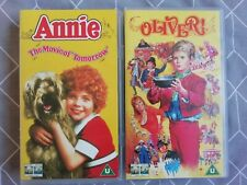 2 VHS Videos ANNIE & OLIVER! Musicals Vintage Both Tested Working. Certificate U
