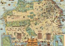 VINTAGE MAP OF SAN FRANSISCO A3 ART PRINT PHOTO POSTER GZ6160