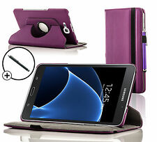 Leather Purple Rotating Smart Case Cover Samsung Galaxy Tab A 7.0 SM-T280 Stylus